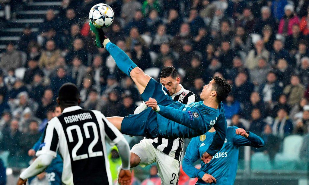 سوپر گل کریستیانو رونالدو بازی رئال مادرید یوونتوس