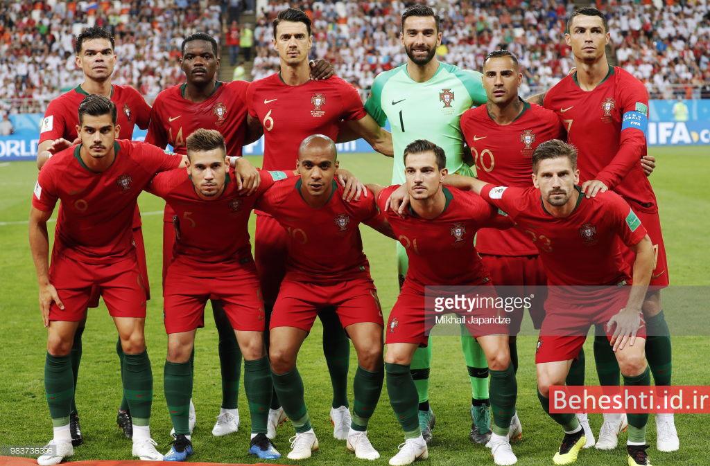ترکیب پرتغال در بازی ایران پرتغال جام جهانی 2018
