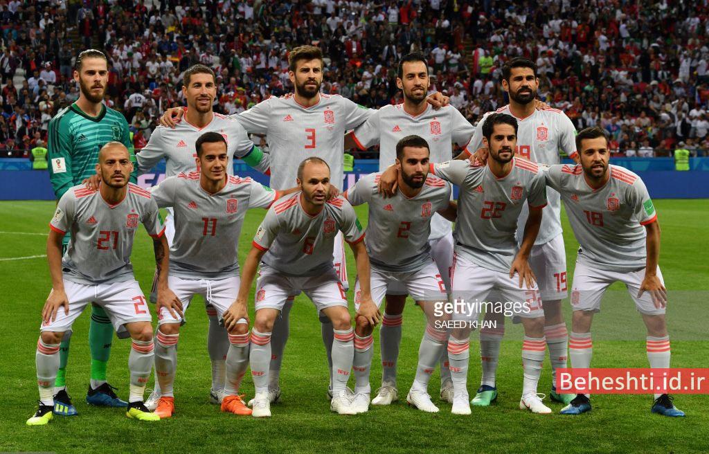 ترکیب اسپانیا در بازی ایران اسپانیا؛ جام جهانی 2018