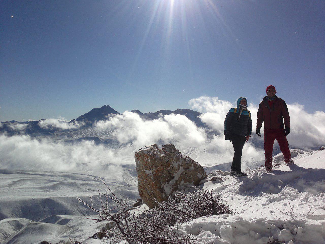قله شاهدار کوه از قله بادله کوه دامغان