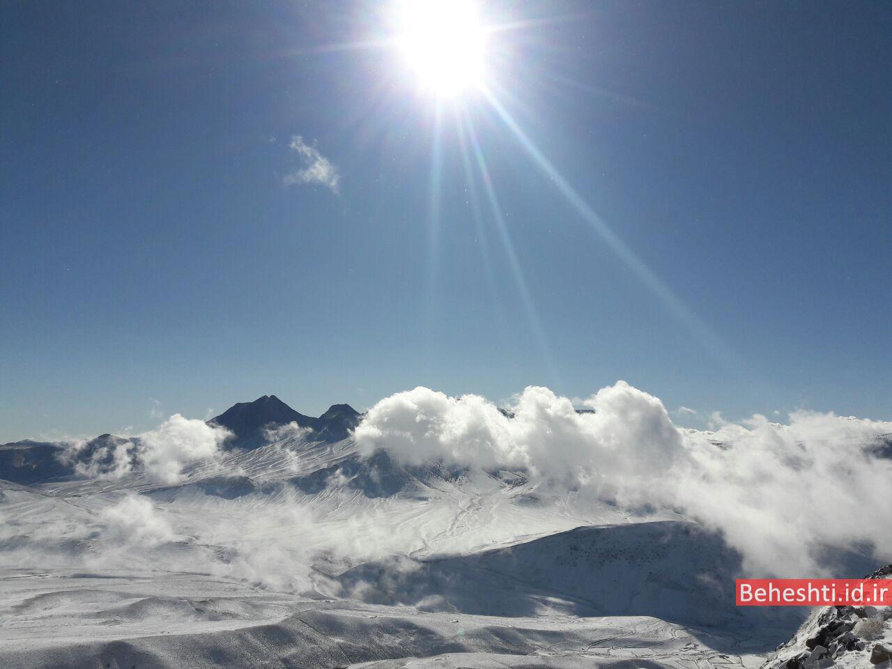 تصویر شاهدار کوه دامغان از قله بادله دامغان