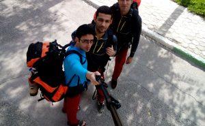 حرکت به سمت شبمانی در کوه کرکس اصفهان